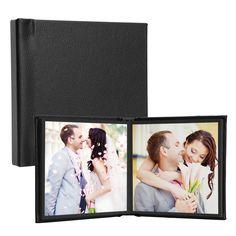 """Square Self-Stick Photo Albums-Black - 5"""" x 5"""" - holds 10 photos, NO COVER PHOTO"""