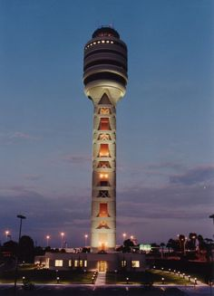 31 Air Traffic Control Towers With Surprising Charm Orlando Airport, Orlando Travel, Orlando Vacation, Vacation Trips, Glass Building, Tower Building, Airport Control Tower, Airport Design, Aviation World
