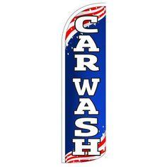 NeoPlex Car Wash Patriotic Swooper Flag