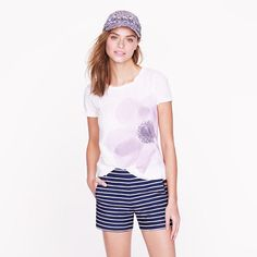 A bit more subtle take on the spring floral trend.  Purple poppy tee