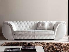 3 seater leather sofa LAPO-QUILT by CorteZari