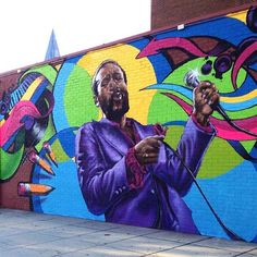 It only took one man Aniekan Udofia (@aniekanreloaded) to paint this larger-than-life mural of music legend and activist Marvin Gaye but an entire community came together to make it a lasting image in Washington DCs cityscape. The wall Aniekan originally painted his commissioned mural on was torn down so the people of the Shaw neighborhood in Northwest DC raised money to start fresh. I actually like the second one because there was no control in terms of the creativity the timeline or the…