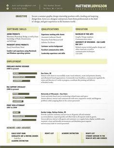Resume by Matt Ludvigson, via Behance
