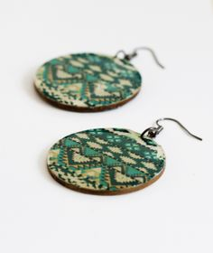 Earrings with image transfer