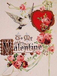 My Funny Valentine, Valentine Images, Valentines Design, Valentines Greetings, Vintage Valentine Cards, Valentines Day Hearts, Valentine Day Love, Vintage Greeting Cards, Vintage Holiday