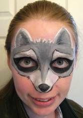 raccoon face paint