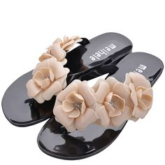 UandM Women's Summer Floral Beach Sandals Slippers Flip Flops >>> You can get additional details at the image link.