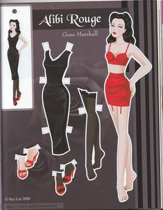 Alibi Rouge Gene Marshall paper doll by Siyi Lin by atrikaa, via Flickr