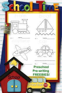 Little Stars Learning: Transportation Theme Pre-writing Freebies