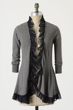 Could do this to a large sweatshirt to make a nice coat.