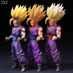 HOT 24cm 3 type Anime Dragon Ball Z Super Saiyan Kakarotto Son Gohan Action Figures Master Stars Collectible Model Toys