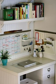 Love this so much! Great example of how you can create a functional office in a very small space