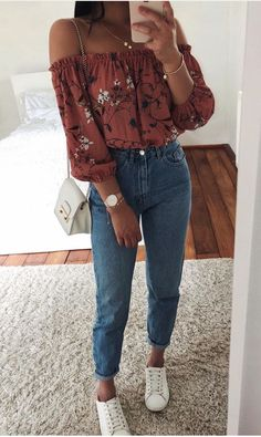 outfit goals for school casual / outfit goals for school . outfit goals for school casual . outfit goals for school winter Spring Outfits For Teen Girls, Cute Spring Outfits, Cute Casual Outfits, Outfits For Teens, Spring Ootd, Denim Outfits, Party Outfits With Jeans, Casual Jeans, Blue Jeans Outfit Summer
