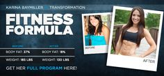 Karina lost 55 lbs the healthy way!  Great story, very motivating with sample training and diet plan.