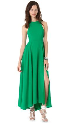 Kelly Green Exposed Back Zip Maxi Dress! ONE by Naven Siren