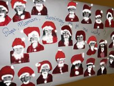 Santa Christmas Art Project for kids