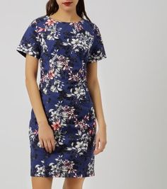 Dark Blue Floral Print Pencil Dress from New Look for £24.99 #fashionfinder #HighStreetPicks #fashion