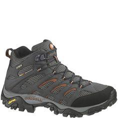 8bb78b51959 87313 Merrell Men's Moab Mid Hiking Shoes - Beluga www.bootbay.com Gore Tex