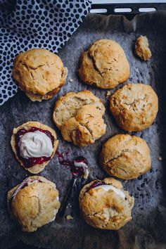 Clotted Cream, Let Them Eat Cake, Margarita, Food Inspiration, Sweet Tooth, Muffin, Bread, Baking, Breakfast