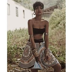 Rihanna more on http://voyagebaggage.blogspot.it/2014/04/rihanna-goes-topless-for-vogue-brazil.html