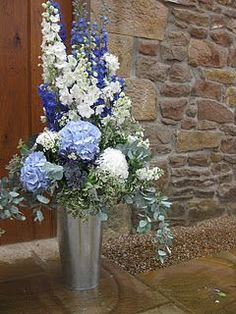 blue reception wedding flowers, wedding decor, wedding flower centerpiece, wedding flower arrangement, add pic source on comment and we will update it.myfloweraffai… can create this beautiful wedding flower look. Centerpiece Wedding Flower Arrangements, Large Floral Arrangements, Church Flower Arrangements, Wedding Centerpieces, Wedding Decorations, Decor Wedding, Tall Centerpiece, Altar Decorations, Flowers Decoration