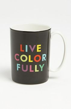 kate spade new york 'things we love™ - live colorfully' mug available at #Nordstrom