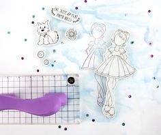 Julie Nutting Bonanza! New stamp blocks with handles and more on the Prima blog: http://prima.typepad.com/prima/2014/07/julie-nutting-bonanaza.html#more #julienutting #primamarketing #summerreleases2014 #dolls #stamping