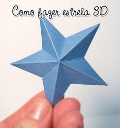 Estrela de papel em 3D ~ PANELATERAPIA - Blog de Culinária, Gastronomia e Receitas