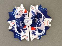 Girls Los Angeles Dodgers Baseball Hair Bow by MommysBowCreations, $7.00