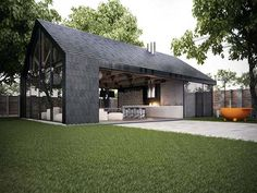 Photos - Armadillo Summer House - Architecture - its like a modern barn!