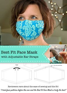 Best Fit Face Mask - Pretty Handy Girl The Best Fit Facemask Tutorial is an easy sew mask for use by the public and medical professionals trying to protect and surgical masks. Sewing Patterns Free, Sewing Tutorials, Sewing Hacks, Sewing Crafts, Free Pattern, Small Sewing Projects, Free Sewing, Sewing Tips, Sewing Ideas