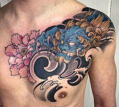 Amsterdam TATTOO 1825 KIMIHITO Japanese style Custom TATTOO Design Foo dog tattoo