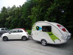 Fiat 500C with a T@B 320 caravan - nice looking combination!