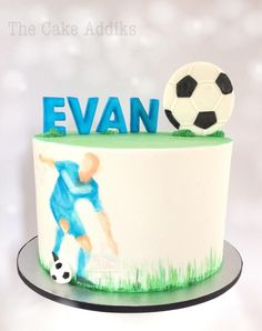 Soccer Theme Cake - Cake by thecakeaddiks