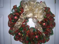 Christmas Wreath with ornaments $40
