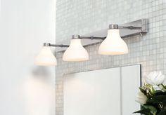 Herstal Kelby Trio Vegglampe Hvit | Designbelysning.no