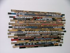#Diy hockey stick headboard