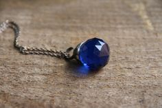 faceted crystal summer pendant dark blue ball by CreativeStudioML, $27.00