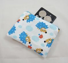 Blue Hedgehogs Fabric Coin Purse - Free P&P £5.00