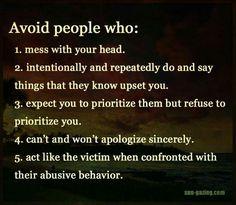 Avoid people who