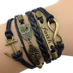 Black Owl Arm Party Bracelet I LOVE THIS!!!
