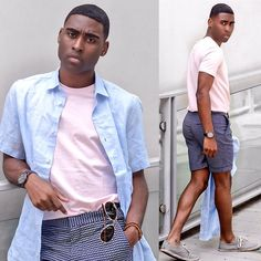 Get this look: http://lb.nu/look/8723543  More looks by Willie Sparks: http://lb.nu/sparksnstyle  Items in this look:  H&M Shirt, H&M Shorts   #summerstyle #menswear #mensfashion #shorts #pastels #la #losangeles #fashion
