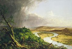 The Oxbow, View from Mount Holyoke, Northampton Massachusetts, after a thunderstorm,---Thomas Cole, 1836