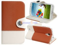 Toothpick Print Faux Leather Flip Case with Stand & Card Slots for Samsung Galaxy S4/ I9500 (Brown)