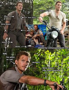 Dress up as the latest action star to hit the theaters - Chris Pratt as Owen from Jurassic World! Full guide here: http://costumeplaybook.com/movies/2900-jurassic-world-costumes/