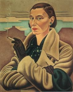 Self Portrait by Rita Angus.    Rita Angus is my favourite Kiwi artist and a small indirect connection with her - my Grandmother went to school with her.