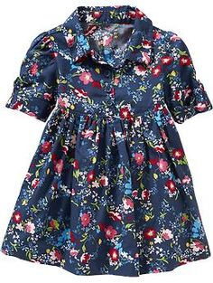 Floral Shirt Dresses for Baby