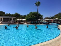 Aqua Zumba fun happens each Tuesday, Thursday, Friday and Sunday at the outdoor pool of Grecian Bay Hotel Cyprus so make a splash and join in! Thursday Friday, Tuesday, Grecian Bay, Ayia Napa, Outdoor Pool, Outdoor Decor, Cyprus, Zumba, Aqua