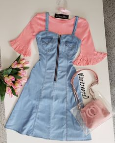 Girls Fashion Clothes, Teen Fashion Outfits, Curvy Outfits, Modest Outfits, Blackpink Fashion, Covet Fashion, Fashion Looks, Dresses For Teens Dance, Stylish Dress Designs