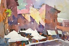 most exciting watercolor paintings | Frank Webb, Bright Day, watercolor © 2014 Frank Webb